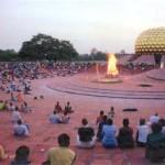 Auroville matrimandir temple